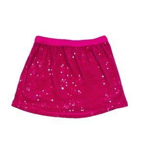 Cherokee Magenta Pink Sequin Skirt Size 7/8